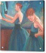 Ballerinas In Blue Backstage Acrylic Print