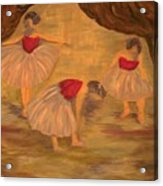 Ballerinas With Blue Hair Acrylic Print