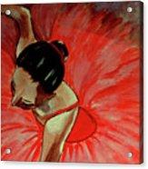 Ballerine Rouge Acrylic Print