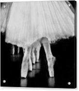 Ballet Black And White Acrylic Print