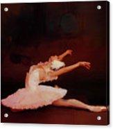 Ballet Dancer In White  Acrylic Print