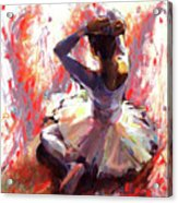Ballet Dancer Siting  Acrylic Print