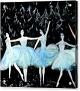 Ballet In Blue Acrylic Print