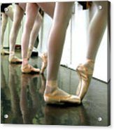 Ballet In Studio Acrylic Print by Chiara Costa