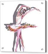 The Ballerina Dance Art Remix Acrylic Print