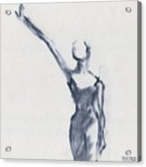 Ballet Sketch One Arm Extended Acrylic Print