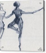 Ballet Sketch Passe En Pointe Acrylic Print