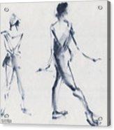 Ballet Sketch Tendu Back Acrylic Print
