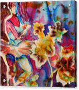 Ballet With Orchids Acrylic Print