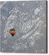 Ballon Verses Mountain Acrylic Print