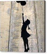 Ballons Girl Acrylic Print