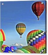 Ballooning Above Longs Peak Acrylic Print