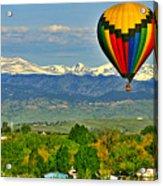 Ballooning Over The Rockies Acrylic Print by Scott Mahon
