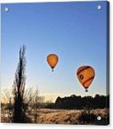 Balloons At Sunrise Acrylic Print