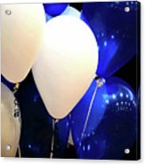Balloons Of Blue And White Acrylic Print
