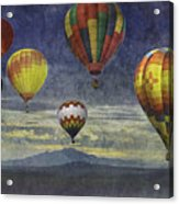 Balloons Over Sister Mountains Acrylic Print