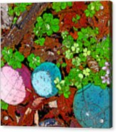 Balls And Clover Acrylic Print
