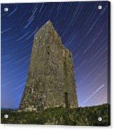 Ballybrit Castle Star Trails Acrylic Print