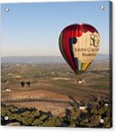 Baloon Riding  Over Temecula Ca Acrylic Print