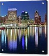 Baltimore Blue Hour Acrylic Print