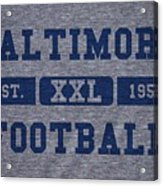 Baltimore Colts Retro Shirt Acrylic Print