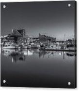 Baltimore Inner Harbor Skyline At Dawn Panoramic Iv Acrylic Print