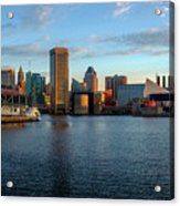 Baltimore Inner Harbor Sunrise Acrylic Print