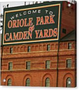 Baltimore Orioles Park At Camden Yards Acrylic Print