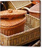 Bamboo Baskets Acrylic Print