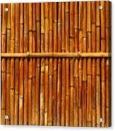 Bamboo Fence Acrylic Print