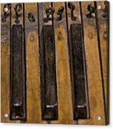 Bamboo Organ Keys Acrylic Print