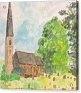 Bamford Church And Serenity Of Nature Acrylic Print