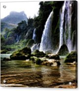 Ban Gioc Vietnam's Most Beautiful Waterfall  Acrylic Print