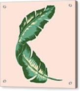 Banana Leaf Square Print Acrylic Print