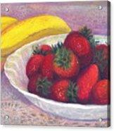 Bananas And Strawberries Acrylic Print