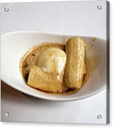 Bananas Foster In A White Dish Acrylic Print