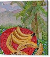 Bananas On A Plate Acrylic Print