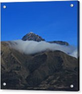 Band Of Cloud On Mount Cotacachi Acrylic Print