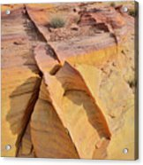 Band Of Gold In Valley Of Fire Acrylic Print