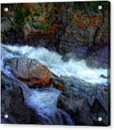 Banded Rock At Livermore Acrylic Print