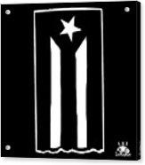 Bandera Puerto Rico En Resistencia Acrylic Print