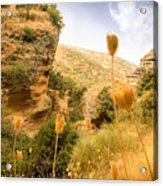 Bandit Country Near The Edge Of The Fan In Ronda Area Andalucia Spain  Acrylic Print