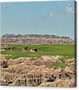 Badlands Panorama Acrylic Print