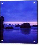 Bandon Beach Oregon Blue Sunset Acrylic Print