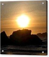 Bandon Beach Silhouette Acrylic Print