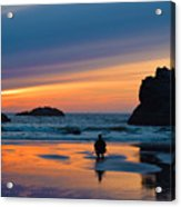 Bandon Sunset Photographer Acrylic Print