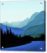 Banff Jasper Blue Acrylic Print