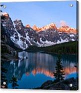 Banff - Moraine Lake Sunrise Acrylic Print by Terry Elniski