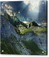 Mount Cory, Banff Acrylic Print