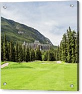 Banff Springs Golf And The Castle Acrylic Print